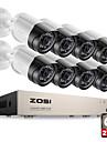 zosi® hd-tvi 8ch 1080 p 2.0mp cameras de securite systeme 8 * 1080 p 2000tvl jour nuit vision cctv securite a la maison 2tb hdd