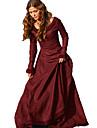 Cosplay Medieval Costume Pentru femei Rochii Negru Mov Verde Albastru Roșu Vintage Cosplay Poliester Manșon Lung