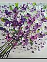 Hang målad oljemålning HANDMÅLAD - Abstrakt Blommig/Botanisk Moderna Duk