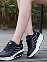 Pentru femei Pantofi PU Primăvară / Toamnă Confortabili Adidași Toc Drept Vârf rotund Alb / Negru / Gri