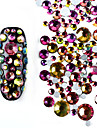 800 pcs Bijoux a ongles Strass Brillant Decontracte / Quotidien Nail Art Design
