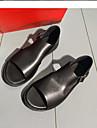 Bărbați Pantofi Piele Vară Confortabili Sandale Negru