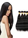 Cheveux Peruviens Droit Cheveux Vierges Tissages de cheveux humains 4 offres groupees 8-26pouce Tissages de cheveux humains Noir / Droite