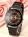 Pentru cupluri Ceas de Mână Ceas Casual Oțel inoxidabil Bandă Modă Negru