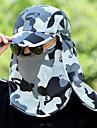 Chapeau / Masque de protection contre la pollution Ete Leger / Sechage rapide / Resistant aux UV Randonnee / Peche / Voyage Unisexe