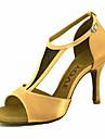 Femme Chaussures Latines / Chaussures de Salsa Satin / Soie Sandale / Talon Boucle / Ruban Talon Personnalise Personnalisables Chaussures