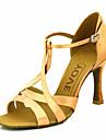 Pentru femei Pantofi Dans Latin / Sală Dans Satin Călcâi Toc Personalizat Personalizabili Pantofi de dans Galben / Fucsia / Violet