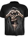Bărbați Tricou Schelet Exagerat - Bloc Culoare Cranii Imprimeu