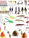 101 pcs Mamac za ribe Puha csali Műlégy Kanalak Műcsali csomag Shad Műanyagok Fém Süllyedő Tengeri halászat Csalidobó Csali horgászat