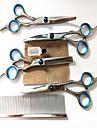 Chat Chien Toilettage Sante Kits de toilettage Ciseaux Peignes Etanche Portable Argent