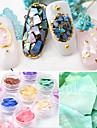 12 pcs Utsmyckningar Naturligt inspirerad / Vintage-inspirerad Nail Art Design Ultra Slim Dagliga kläder