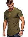 Rund hals Herre - Ensfarvet Bomuld Basale T-shirt Sort XL / Kortærmet