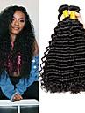 4 bundels Maleisisch haar Diepe Golf Echt haar Menselijk haar weeft / Verlenging / Bundle Hair 8-28 inch(es) Naturel Natuurlijke Kleur Menselijk haar weeft Machinegemaakt Zijdeachtig / Glad