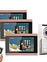 MOUNTAINONE 3 Apartments Wifi Video Door Phone Wireless / Cablu Fotografiat / Înregistrare / Sonerie video multifamilială 7 inch