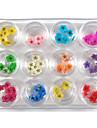 60 pcs Искусственные советы для ногтей Набор для ногтей Стразы для ногтей Модный дизайн / Цветной маникюр Маникюр педикюр На каждый день Стиль / Художественный / Украшения для ногтей