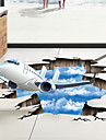 Autocolante de Perete Decorative / Etichete autocolante - 3D Acțibilduri de Perete Peisaj / #D Sufragerie / Dormitor / Baie