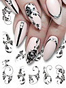5 pcs Full Nail Stickers nail art Manicure Pedicure Colorful Nail Decals Daily Wear / Festival