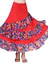 Ballroom Dance Bottoms Women\'s Performance Ice Silk Pattern / Print / Ruching / Split Joint Natural Skirts