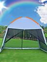 8 Personen Kuppelzelt mit Netz Firstzelt mit Netz Aussen UV-bestaendig Regendicht Atmungsaktivitaet Doppellagig Stange Camping Zelt 2000-3000 mm fuer Klettern Strand Camping / Wandern / Erkundungen
