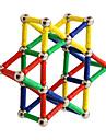 בלוק מגנטי מקלות מגנטיים אריחים מגנטיים 96 pcs יצירתי טרנספורמבל אינטראקציה בין הורים לילד כל בנים בנות צעצועים מתנות