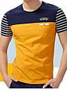 Bărbați Rotund - Mărime Plus Size Tricou Bumbac Dungi / Manșon scurt