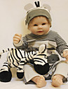 OtardDolls Munecas reborn Bebes Ninos 20 pulgada Cuerpo completo de silicona - natural A mano Morazon enraizado a mano Clavos inclinados y sellados Artificial Implantation Brown Eyes Kid de Chico