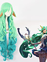 Cosplay Cosplay All 44 inch Heat Resistant Fiber Green Anime Cosplay Wigs