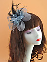 Feather / Net Headpiece with Feather / Flower 1pc Wedding / Special Occasion Headpiece