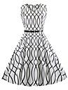 Pentru femei Vintage Swing Rochie Geometric Lungime Genunchi