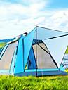 BSwolf 4 איש אוהל עם הצללה אוהל בית עם הצללה חיצוני עמיד מוגן מגשם נשימה שכבה כפולה אוטומטי קמפינג אוהל 1500-2000 mm ל דיג חוף מחנאות / צעידות / טיולי מערות טול בד אוקספורד 210*210*140 cm