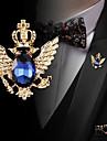 Pánské Kubický zirkon Retro Stylové Brože Módní Elegantní Bristké Brož Šperky Černá Modrá Pro Svatební Dovolená