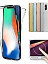 غطاء من أجل Apple iPhone X / إفون 8 شفاف غطاء كامل للجسم لون سادة ناعم TPU إلى iPhone X / iPhone 8 Plus / iPhone 8