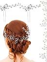 คริสตัล / ไข่มุกเทียม Head Chain กับ ลูกไม้ขึ้น 3 ชิ้น งานแต่งงาน / โอกาสพิเศษ หูฟัง