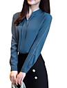 Γυναικεία Μπλούζα Βασικό Μονόχρωμο Όρθιος Γιακάς Λεπτό