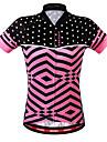 WOSAWE Dames Korte mouw Wielrenshirt - Blozend Roze Fietsen Sweatshirt Shirt Kleding Bovenlichaam Ademend Achterzak Zweetafvoerend Sport Polyester Bergracen Wegwielrennen Kleding / Rekbaar