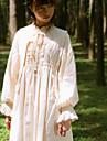Classic Lolita Dress Classical Vintage Female Dress Cosplay Beige Juliet Sleeve Long Sleeve Midi Halloween Costumes