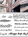 3 pcs Временные татуировки Серия сообщений Экологичные / Новый дизайн Искусство тела Корпус / рука / Грудь / Временные татуировки в стиле деколь / Стикер татуировки