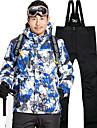 Homme Veste et Pantalons de Ski Etanche Chaud Poids Leger Camping / Randonnee Ski Sports d\'hiver Spandex Polyester Veste Hiver Salopettes Tenue de Ski / Coupe Vent / Coupe Vent