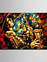 Oil Painting Hand Painted - People Modern Stretched Canvas