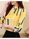 γυναικεία μπλούζα - γεωμετρικός στρογγυλό λαιμό