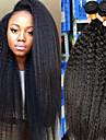 3バンドル ブラジリアンヘア ヤキ 8A 人毛 人間の髪編む バンドル髪 ワンパックソリューション 8-28 インチ ナチュラルカラー 人間の髪織り セクシーレディー 最高品質 ホット販売 人間の髪の拡張機能 女性用