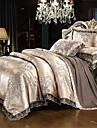 Duvet Cover Sets Luxury Silk / Cotton Blend Reactive Print 4 Piece Bedding Sets / >800 / 4pcs (1 Duvet Cover, 1 Flat Sheet, 2 Shams) queen