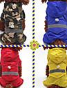 Honden Katten Huisdieren Regenjas Versiering Hondenkleding Effen Camouflage Kleur Rood Blauw camouflage kleur Acryl Vezels Kostuum Voor Dalmatier Japanese Spitz Beagle Alle seizoenen Man Vrouw Sport