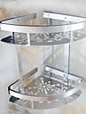 Kylpyhuonehylly Uusi malli / Tyylikäs Nykyaikainen Ruostumaton teräs 1kpl Seinäasennus