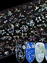 8 pcs 3Dネイルシール スノーフレーク ネイルアート マニキュアペディキュア マルチファンクション / 最高品質 ファッション 日常 / 祭り