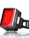 LED Kerékpár világítás Kerékpár hátsó lámpa Hegyi biciklizés Kerékpározás Vízálló Gyors kioldású intelligens Li-on akkumulátor 50 lm Piros Kerékpározás