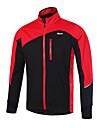Arsuxeo Homme Veste Velo Cyclisme Velo Veste Hiver Coupe Vent Respirable Des sports Polyester Hiver Vert / Bleu / gris fonce VTT Velo tout terrain Velo Route Vetement Tenue Tenues de Cyclisme