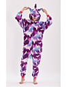 Yetişkin Kigurumi Pijama Unicorn Anime Midilli Onesie Pijama polyester elyaf Mor Cosplay İçin Erkek ve Kadın Hayvan Sleepwear Karikatür Festival / Tatil Kostümler