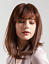 Human Hair Capless Wigs Human Hair Natural Straight Bob Haircut / Side Part New Arrival / Natural Hairline Brown Short Capless Wig Women\'s