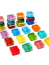 24-pack køleskabsmagneter søde køleskab magneter køkken farverige magneter dekorative kontor magneter sjove glas magneter whiteboard tør slette bord magneter